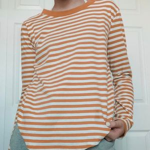 yellow and white striped shirt